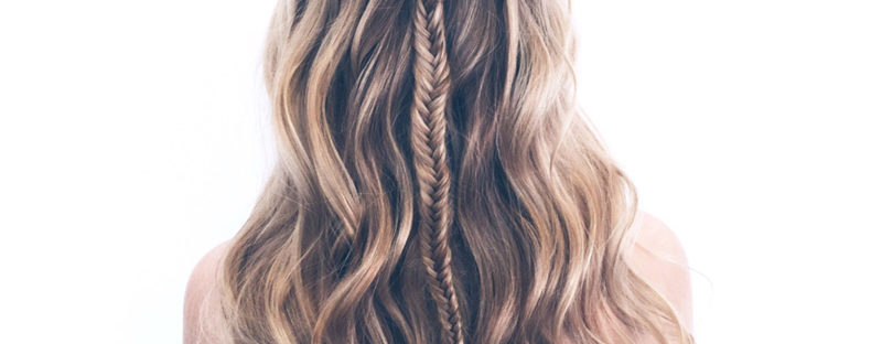 fishtail braid formal