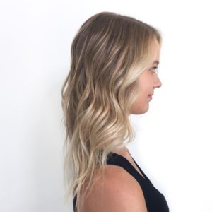 Balayage and blonde foils