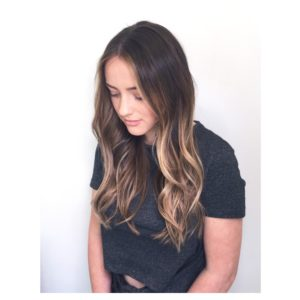 Natural balayage on virgin hair