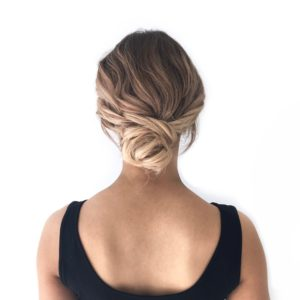 Curled Bun Formal Style
