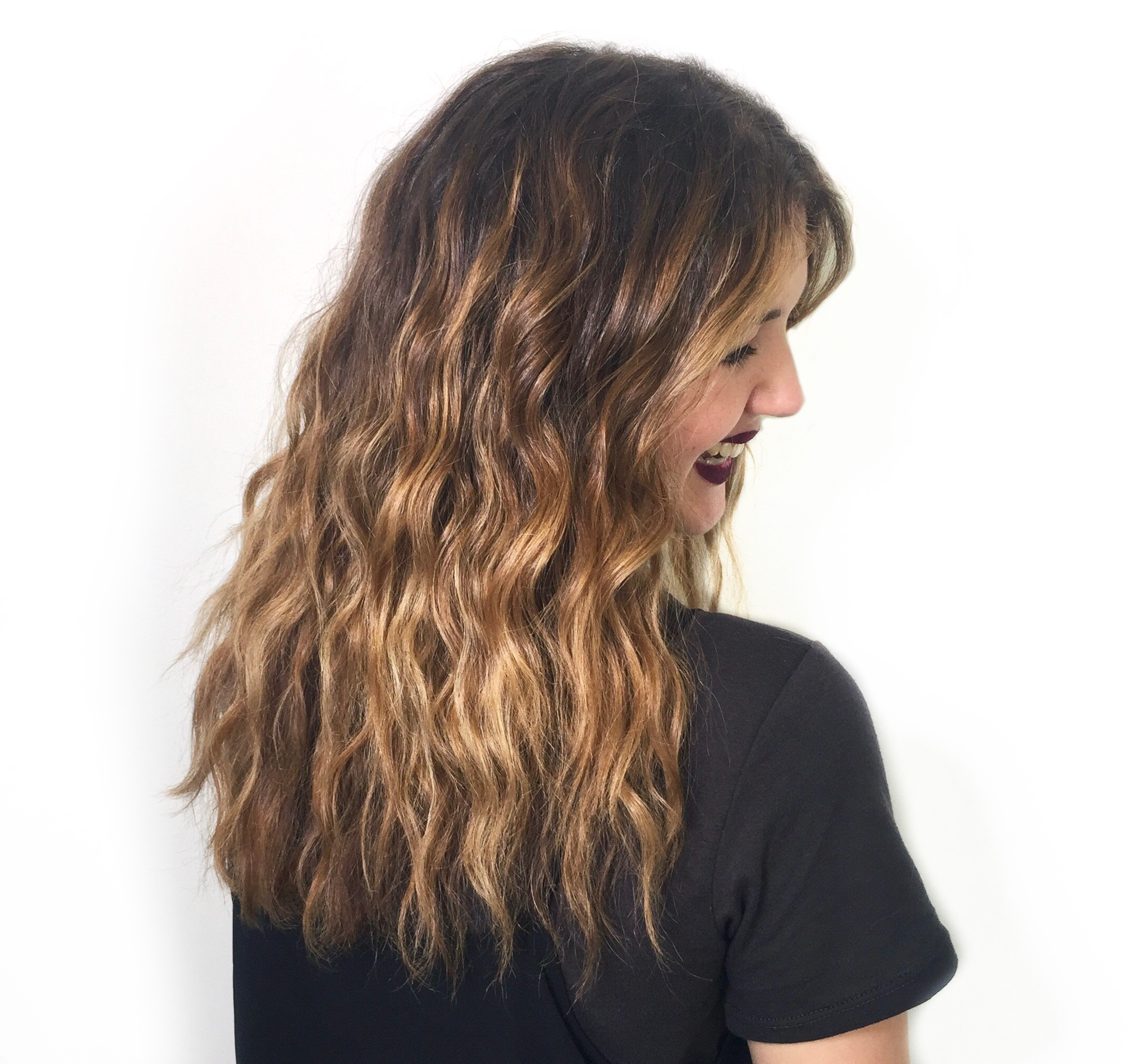 warm natural Balayage