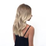 blonde Balayage with root shadow