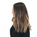 Natural Balayage on dark hair