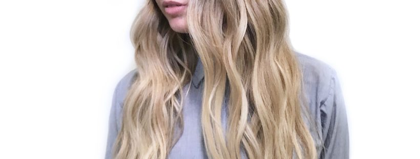 Blonde balayage colour