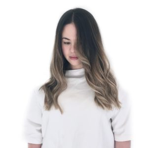 Dark natural balayage colour