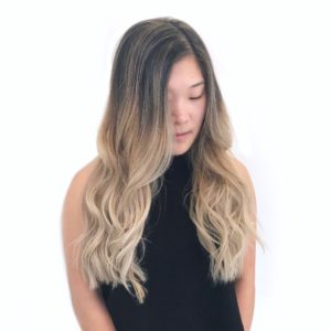Asian hair balayage