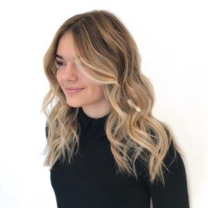 warm blonde tones balayage