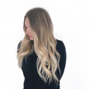 Blonde ends balayage