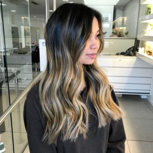 balayage asian hair