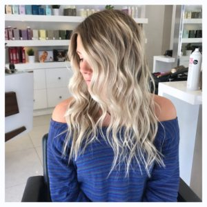 blonde ends olaplex