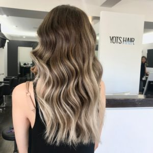 balayage on brunette