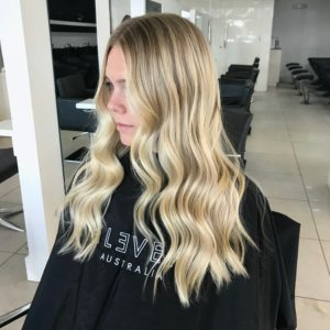 blonde ends blayage